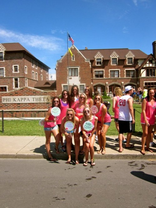 Frat castle yard hang while waiting for our perfect, new pledge babies. TSM.