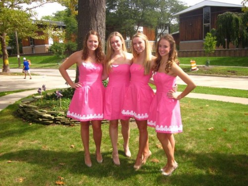 When I hear pink dress I just hear Lilly. TSM.