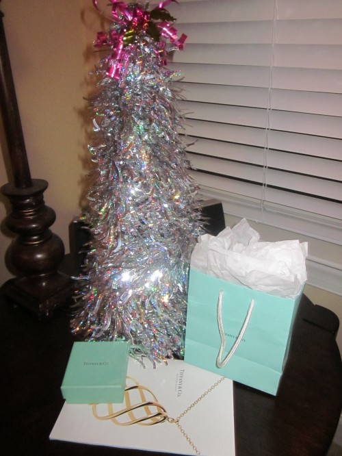 Come and trim my Christmas tree, with some decorations bought at Tiffany's! TSM.