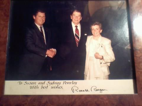My grandparents with Reagan. TSM.