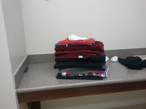 Folding a stranger's laundry. TSM.