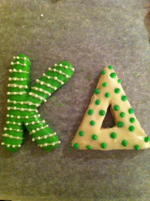 Kappa Delta Christmas cookies betches.