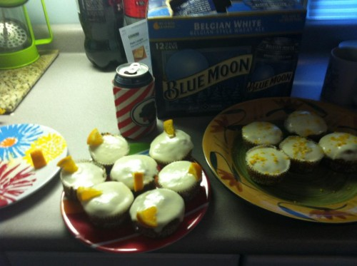 Baking Blue Moon cupcakes with my grandlittle instead of studying. TSM.
