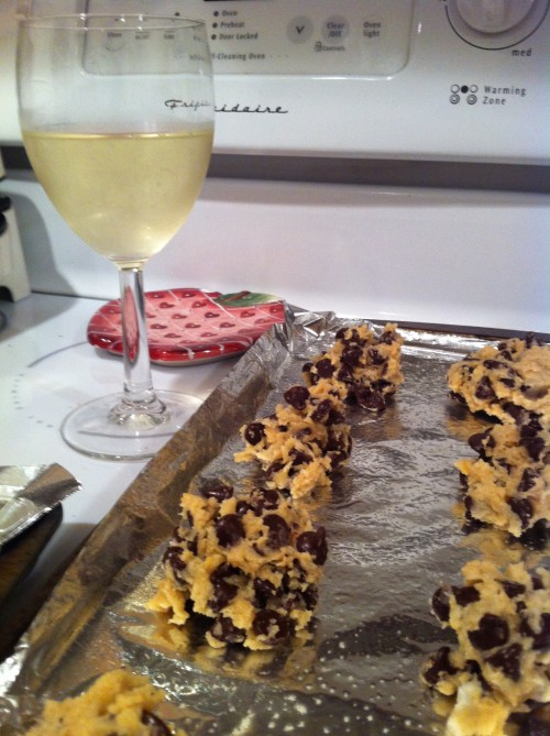 Baking and drinking wine instead of trying the cookies. TSM.