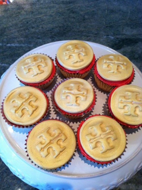 Homemade Tory Burch cupcakes. TSM.