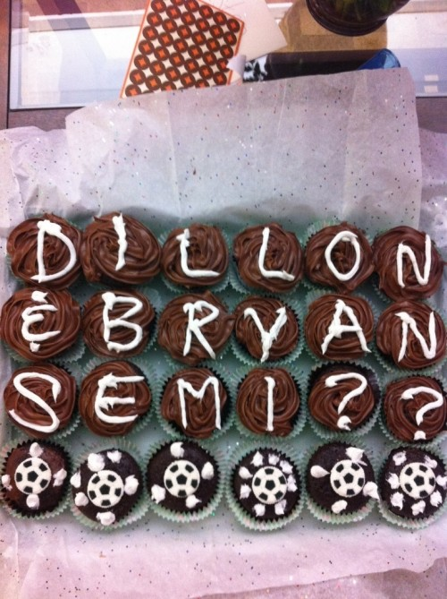 Asking your date to semi with another sister...on cupcakes. TSM.