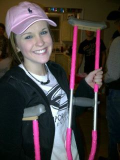 Pink crutches? TSM.