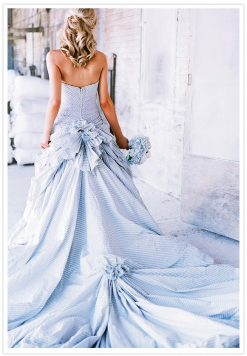 Seersucker wedding dress. TSM.