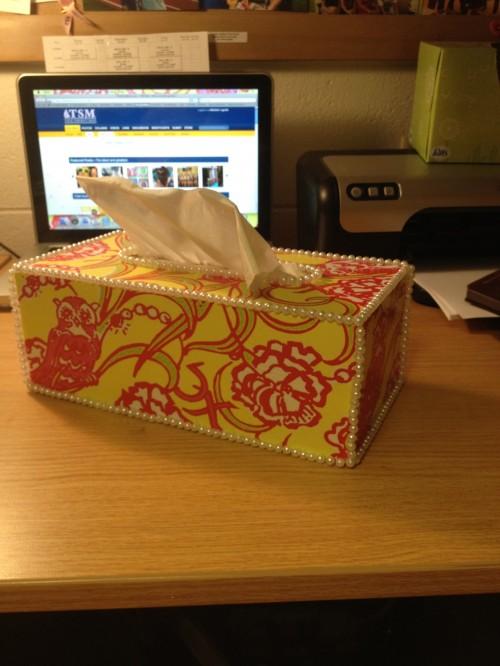 Lilly tissue box. TSM.