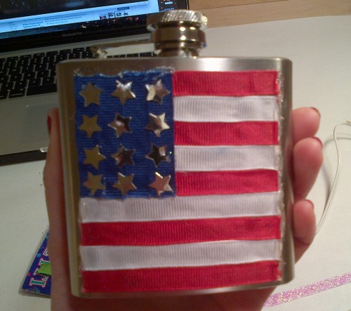 21st birthday flask for my brother.