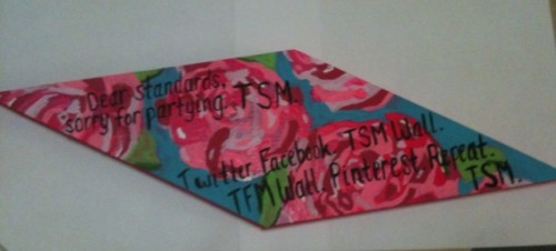 Homemade Lilly Pulitzer themed diamond board TSM craft. TSM.