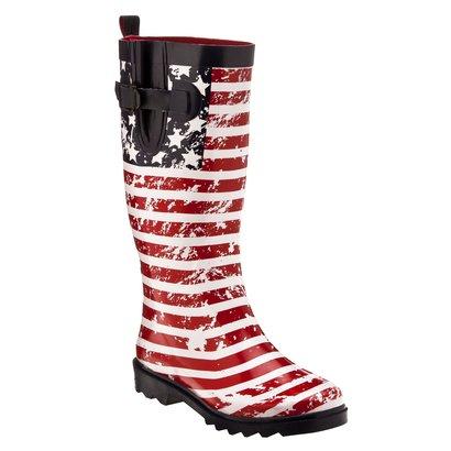 American flag rain boots. TSM.