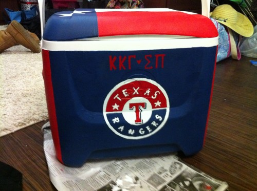 Valentine's Day cooler for my fratdaddy. TSM.