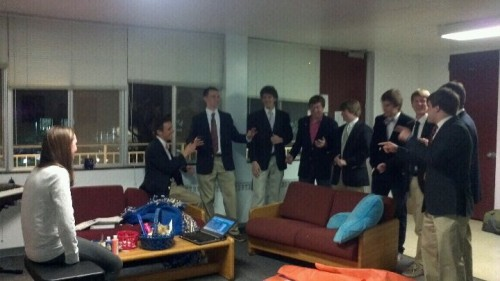 Serenades from pledges. TSM.