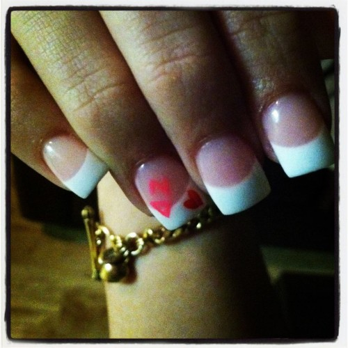 Getting your sorority letters on your nails. TSM.