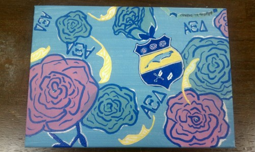 Instantly painting the new Lilly print on a canvas. TSM.