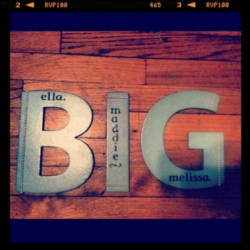 Big-Little Appreciation Week. Love you little!