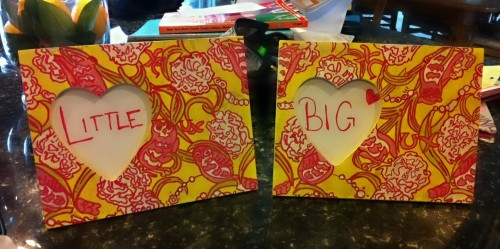 Crafting with my sister for my Big sister. TSM.