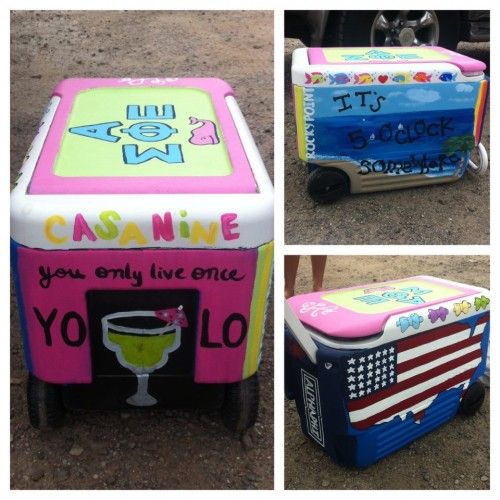 The cooler lives to be painted for yet another trip! TSM.