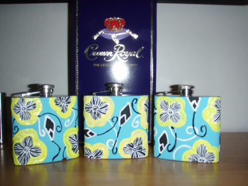 Lilly flasks and crown for the big and little before semi.