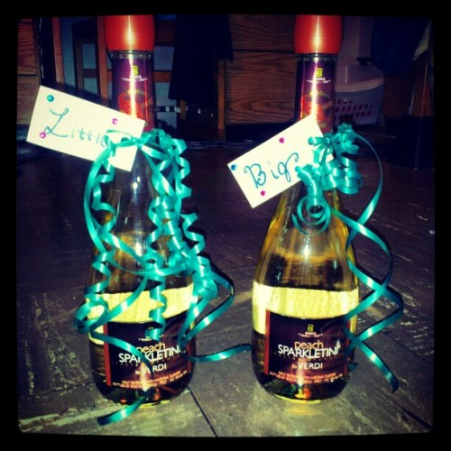 Matching champagne bottles for formal. TSM.