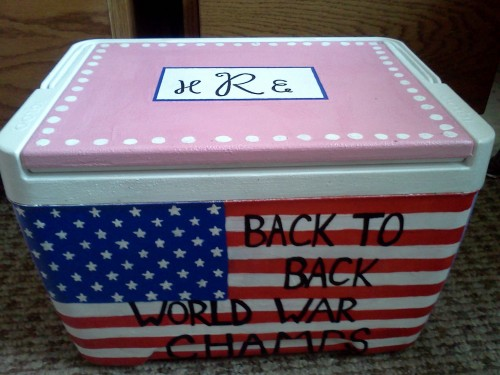 Patriotic crafting. TSM.