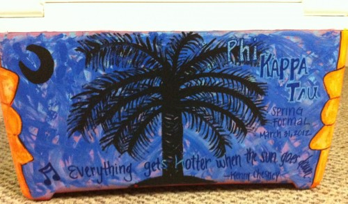 Your cooler isn't finished until you add his favorite Kenny Chesney lyrics. TSM.