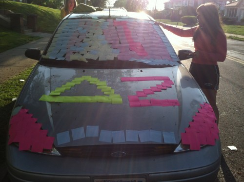 The car didn't earn those letters. DZ Prank! TSM.