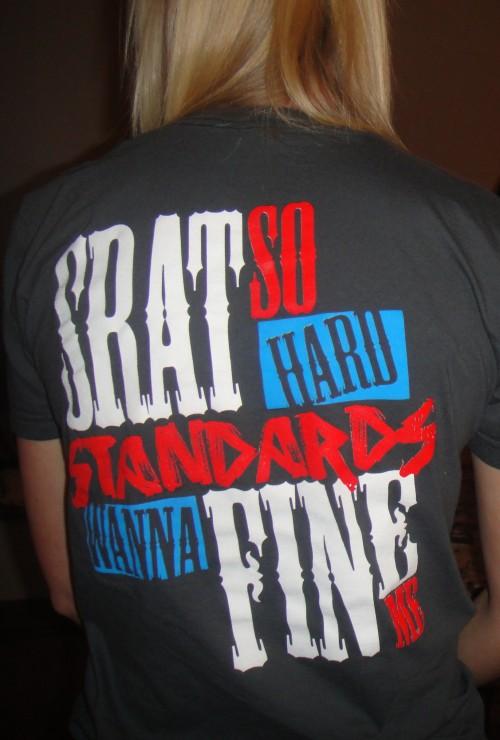 Srat so hard standards wanna fine me. TSM.