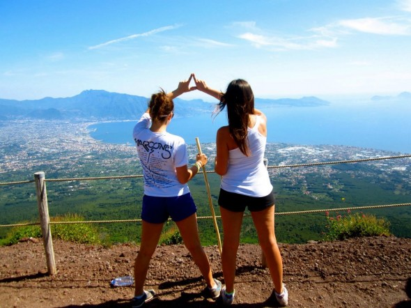 Delta Love on top of a volcano in Italy. TSM.