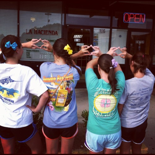 T-shirts, bows & Norts to get margs. TSM.