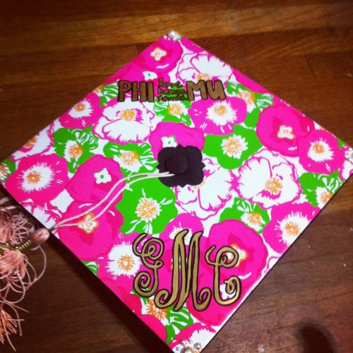 Lilly from head to toe, every girls dream on graduation day. TSM.