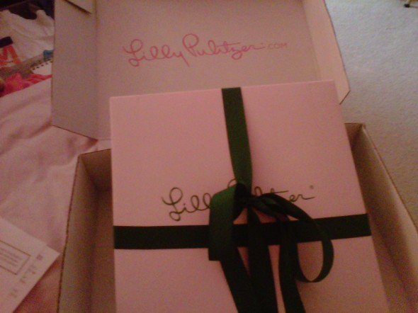 Pre-ordered my Lilly planner and had it gift wrapped for myself. TSM.