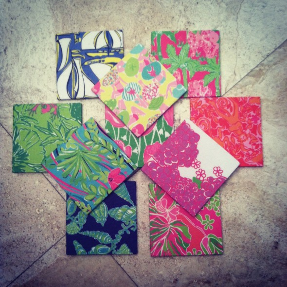 Crafting your own Lilly coasters. TSM.
