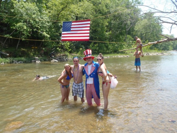 Floating with Uncle Sam. TSM.