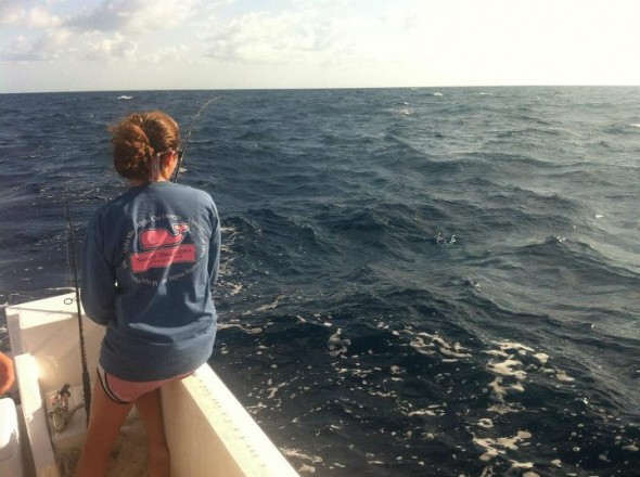 Always fishing in a frat tee. TSM.