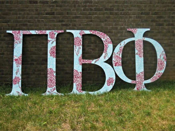 Lilly letters for Bid Day. TSM.