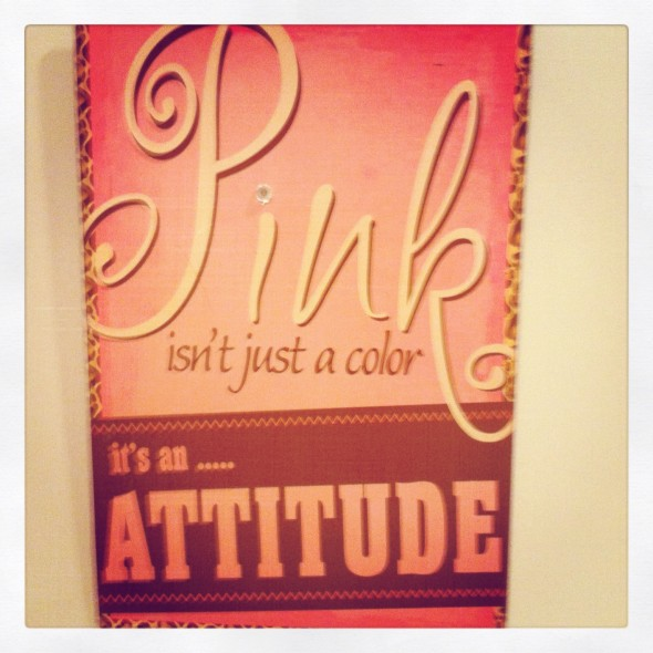 Pink isn't just a color, it's an attitude. TSM.