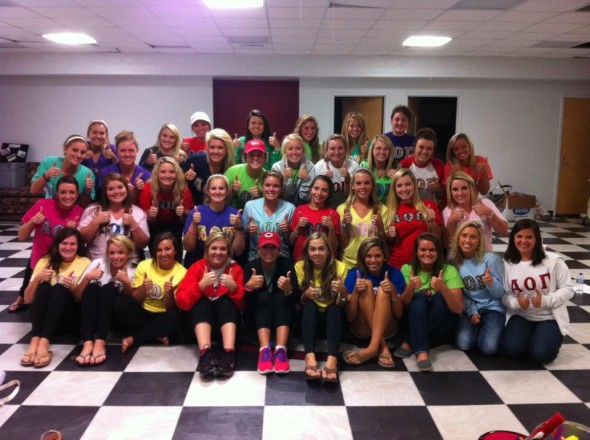 Thumbs Up For Lane from the AOII baby pandas!!! TSM.