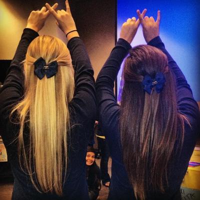 Letters, bows, best friends. TSM.