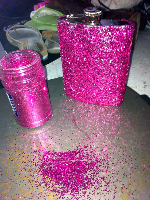 Always crafting with glitter. TSM.