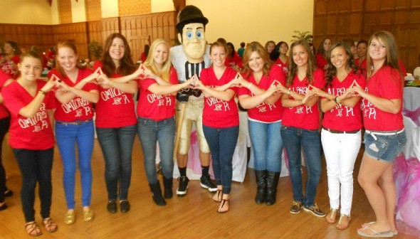 Our mascot joining us on Bid Day to welcome Purdue University's beautiful new colony! TSM.