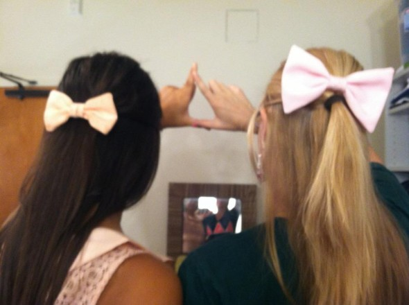 On Wednesdays we wear pink (bows that is). TSM.
