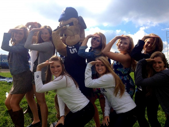 Saluting with everything...even your school's mascot. TSM.