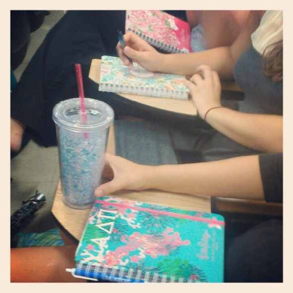Rows of fresh Lilly planners at the first chapter. TSM.