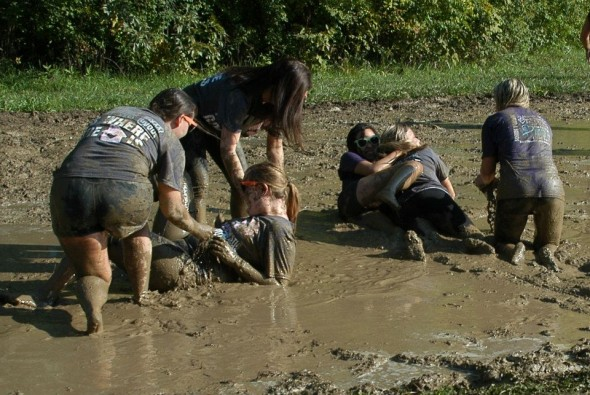 Getting down and dirty for domestic violence awareness. TSM.