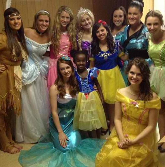 Doing service for children in need...as princesses. TSM.