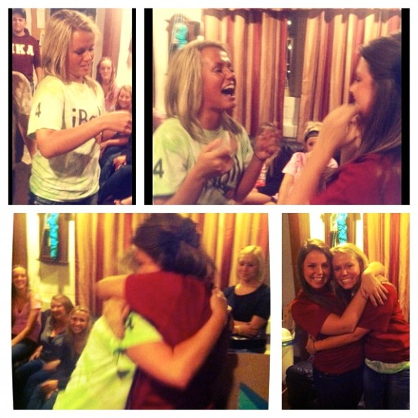 The moment when you get your little = best moment ever! TSM.