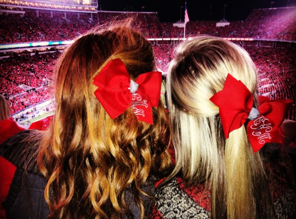 Best friends, bows, and Buckeyes. TSM.