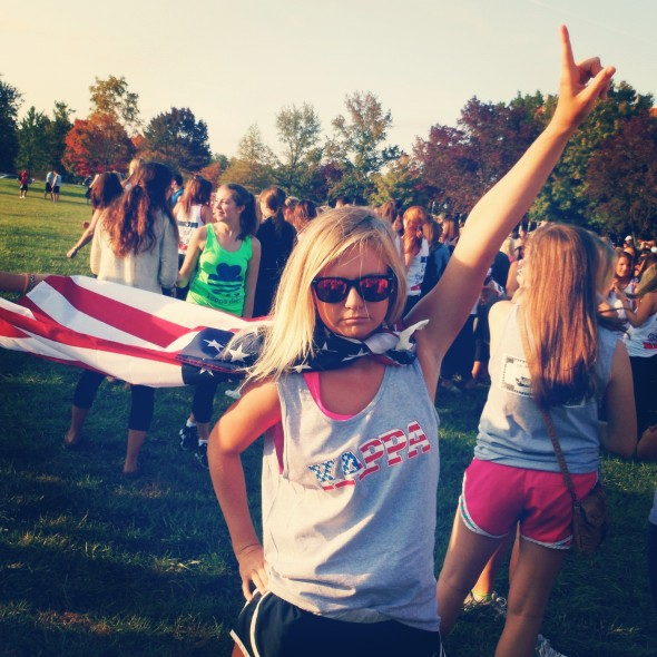 Repping KKG and 'Merica at Greek Week opening ceremonies. TSM.